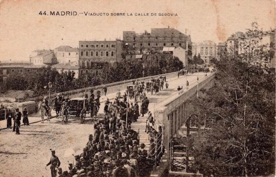 Foto antigua Viaducto de Madrid