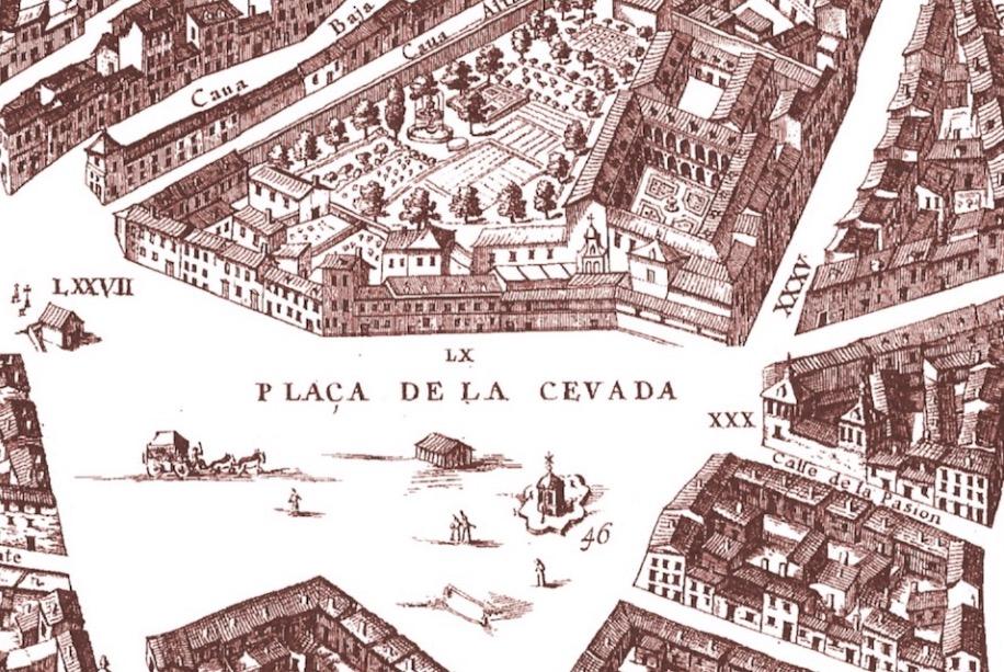 Plano Teixeira  Plaza de la Cebada