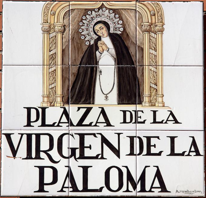 Iglesia y Virgen de la Paloma
